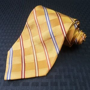 Jos. A Bank Yellow Gold Silk Necktie Tie